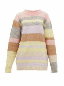 Acne Studios - Kalbah Striped Knitted Sweater - Womens - Beige Multi