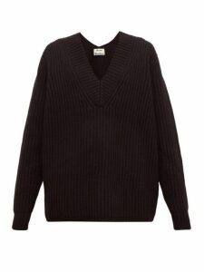 Acne Studios - Keborah V Neck Wool Sweater - Womens - Black