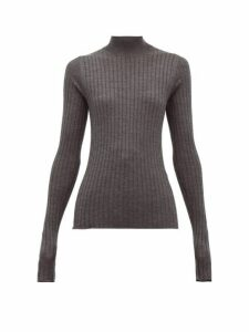 Acne Studios - Kulia Ribbed Knit Wool Sweater - Womens - Grey