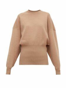Acne Studios - Kaphne Blouson-sleeve Jersey Sweater - Womens - Camel