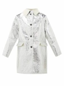 Kassl Editions - Reversible Metallic-pvc And Shearling Jacket - Womens - Silver