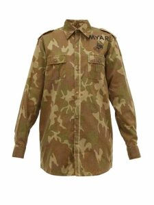 Myar - Camouflage-print Cotton Shirt Jacket - Womens - Camouflage
