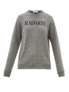 Rodarte - Radarte Print Fleece Back Jersey Sweatshirt - Womens - Grey