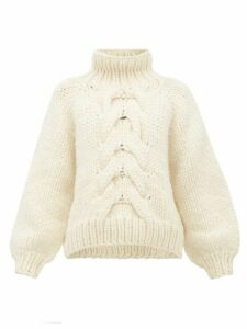 Mr Mittens - Cropped Cable-knit Wool Sweater - Womens - Cream