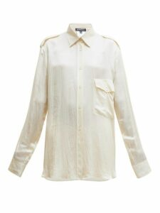 Ann Demeulemeester - Nanette Flap Pocket Satin Shirt - Womens - Cream