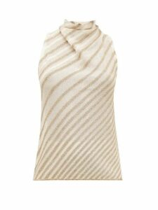 Missoni - Metallic-striped Knit Top - Womens - Cream Gold