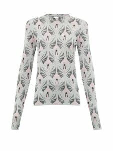 Paco Rabanne - Metallic Pattern Jacquard Sweater - Womens - Silver