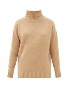 The Elder Statesman - Highland Cashmere Funnel Neck Sweater - Womens - Beige