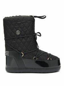 Bogner - Tignes Quilted Lace Up Snow Boots - Womens - Black