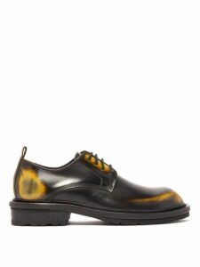 Ann Demeulemeester - Antiqued Leather Derby Shoes - Womens - Black Multi
