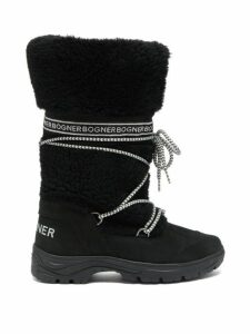 Bogner - Alta Badia 1b Suede And Shearling Boots - Womens - Black