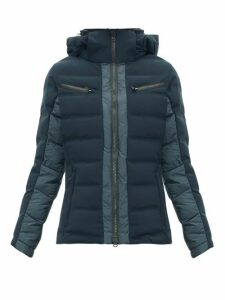 Capranea - Vanta Down-filled Quilted Ski Jacket - Womens - Dark Grey