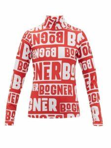 Bogner - Beline Logo-print Quarter-zip Thermal Top - Womens - Red White