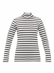 Bogner - Beline Striped Jersey Half-zip Top - Womens - White Stripe