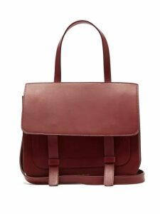 Mansur Gavriel - Leather Satchel Shoulder Bag - Womens - Burgundy