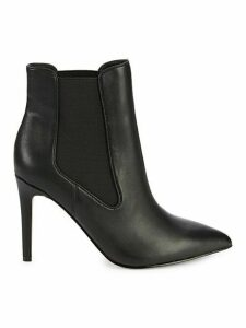 Harriette Point-Toe Leather Booties