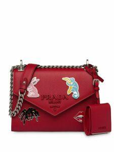 Prada Monocrome Saffiano shoulder bag - Red