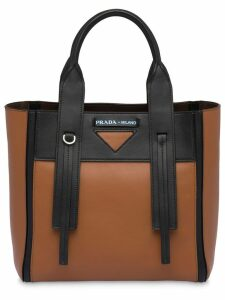 Prada Prada Ouverture small leather bag - Brown