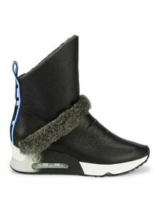Laika Shearling, Faux Fur & Leather Sock Boots