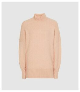 Reiss Sam - Roll Neck Jumper in Nude, Womens, Size XXL