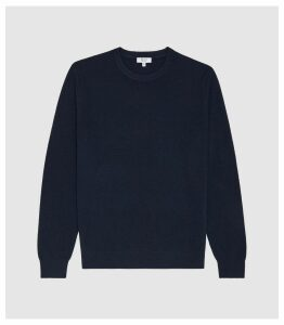 Reiss Chancer - Cashmere Crew Neck Jumper in Navy, Mens, Size XXL