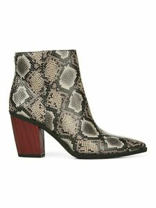 Cornell Snake-Embossed Booties