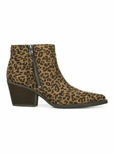Whistler Leopard-Print Zip Booties