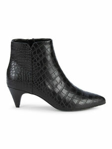 Karri Croc-Embossed Booties