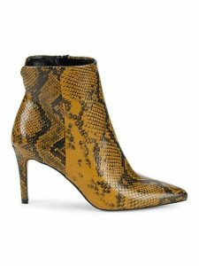 Leiland Embossed Faux Leather Stiletto Booties