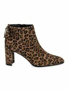 Lofty Cheetah-Print Suede Booties