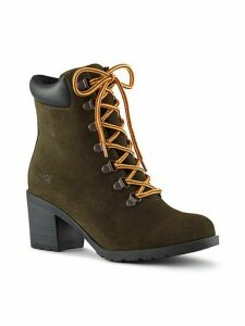 Angie Lace-Up Suede Booties