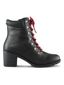 Angie Lace-Up Leather Booties