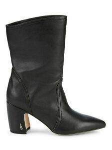 Hartley Point-Toe Block Heel Booties