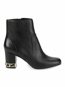 Sonia Embellished Leather Booties