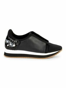 Embellished Leather Sneakers