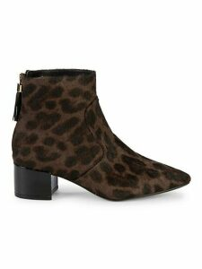Maude Animal Print Cow Hair Booties
