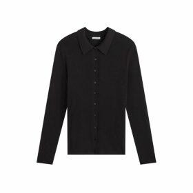 Jigsaw Silk Cotton Shirt Jumper
