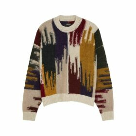 Isabel Marant Delly Intarsia Mohair-blend Jumper