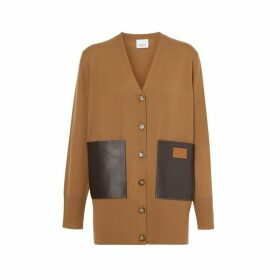 Burberry Lambskin Pocket Merino Wool Cardigan