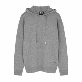 Markus Lupfer Immy Grey Metallic Wool-blend Sweatshirt