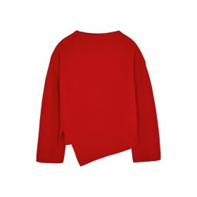 BOSS Red Asymmetric Cashmere Jumper
