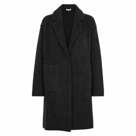 Vince Charcoal Wool-blend Cardigan