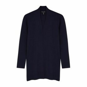 EILEEN FISHER Navy Merino Wool Cardigan