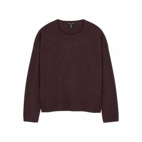EILEEN FISHER Plum Cashmere Jumper