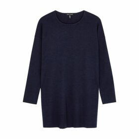 EILEEN FISHER Navy Merino Wool Jumper