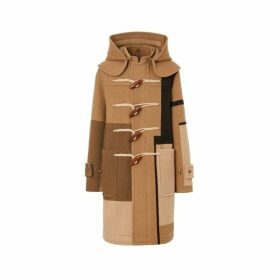 Burberry Panelled Wool Duffle Coat