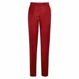 Helmut Lang Dark Red Straight-leg Satin Trousers