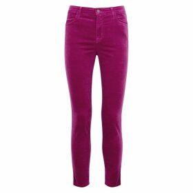 J Brand Alana Fuchsia Skinny Velvet Jeans