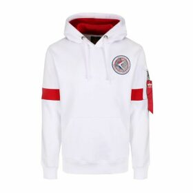 Alpha Industries Apollo 15 Hoody White