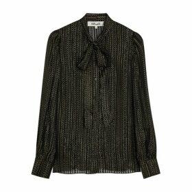 Diane Von Furstenberg Lanie Printed Silk-blend Blouse